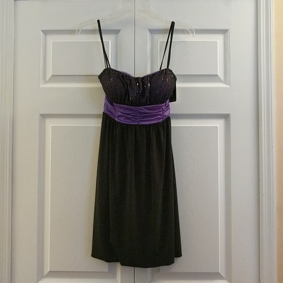 Byer California Dresses Black And Purple Formal Dress Size Medium